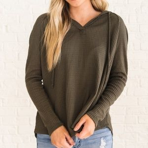 Urban Outfitters Waffle Knit Pullover Hoodie